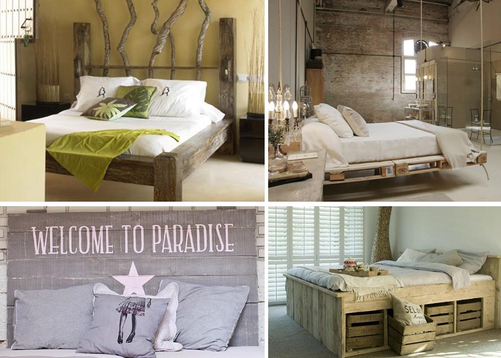 Camas con palets de madera camas de palets ideas con - Camas de palets ...