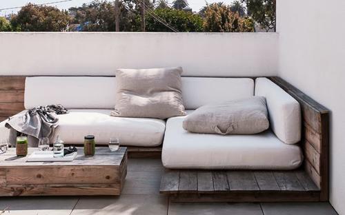 Sof s con palets para exteriores - Sofas con palets ...