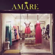 Rótulo en cajón luminoso para Tienda de ropa Amare