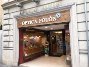 Rotulo de madera para optica Foton