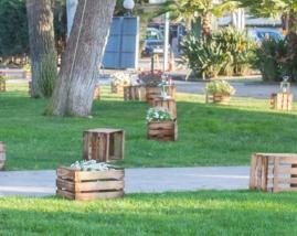 Jardineras de caja de fruta
