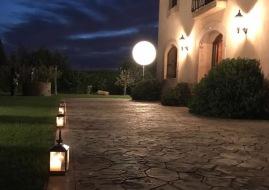 Iluminación mediante farolas / iluminacion bolas led / iluminacion globos